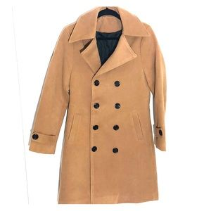 Jackets & Blazers - Camel Double Breasted Trench Coat